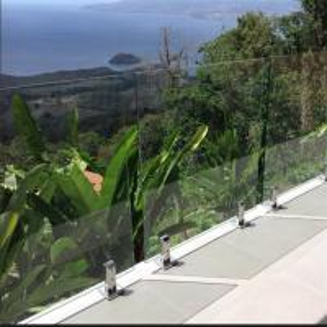 Buy cheap Semi-Frameless Glass balcony railing with glass spigots / glass balustrade from wholesalers
