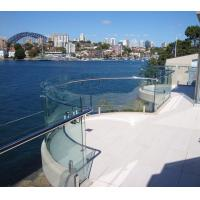 Buy cheap Tempered frameless 304 316 316L glass railing with spigot for sale from wholesalers