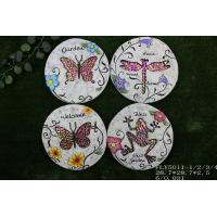 Quality Ceramic Decorative Garden Stepping Stones Butterfly And Dragonfly Design for sale