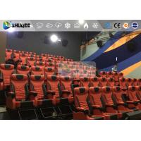 Quality 1 Seat 2 Seats Simulation Rides Movie Theater System 4D With Arc / Flat Screen for sale