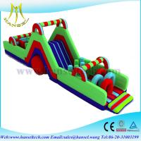 Quality Hansel china cheap inflatable obstacle course slide combos kids inflatable adventure for sale
