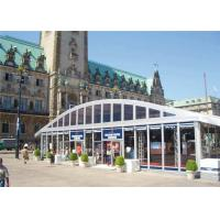 Arch Roof Trade Modular Glass Wall Commercial Tent With 15 Years Long Life Span for sale