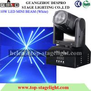 Quality 10W LED MINI Beam Moving Head Light for sale