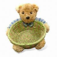 Quality Wicker Teddy Bear Storage Basket, Customized Logos and Colors are Accepted for sale