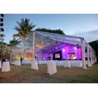 Elegant Banquet Wedding Party Tent Clear Roof Top Hot Dip Galvanized Steel for sale
