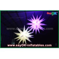 Buy Giant 1.5m LED Star Balloon Inflatable Lighting Decorations For Pub / Bar at wholesale prices
