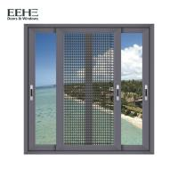 Quality Heat Insulation Home Aluminum Sliding Glass Windows With Mosquito Net 1.4mm Thickness for sale