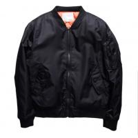 Quality Male Vintage Ma1 Bomber Jacket With Crew Neck Collar Single Breasted for sale