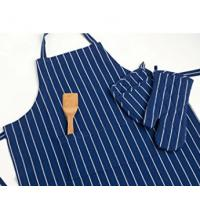 Quality 100% Cotton Commercial Stripe Chef Apron with Pocket , Adjustable Neck Strap & Waist for sale