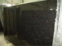 China Black Galaxy Granite,Polished Black Granite Tile/Slab/Counter Tops,Black Galaxy Skirting,Wall Tile on sale