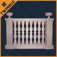Quality handrails sandstone carved polished marble balustrade custom concrete blauster for sale