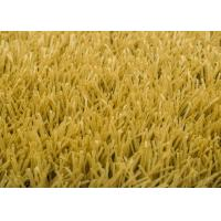 Buy 40mm Yellow Brown Artificial Putting Green Grass For Patios Rooftops Balconies at wholesale prices