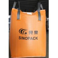 Orange 500kg big bag FIBC with filler cords , Large FIBC Jumbo Bag