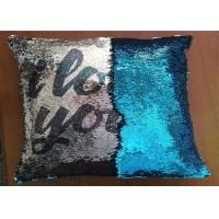 Quality Popular Fashion Custom Logo Reversible Sequin Pillow I Love You Word Printing Pillow Cases For Holiday Gifts for sale