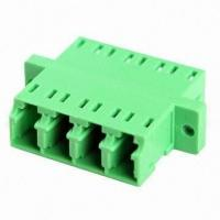 Quality High Precision LC Quad Fiber Optic Adapter with Flange or without Flange for CATV System / Local Area Network for sale
