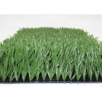 Quality Green Football Hard Wearing Artificial Grass Soccer Field 50mm Stem W Shape for sale