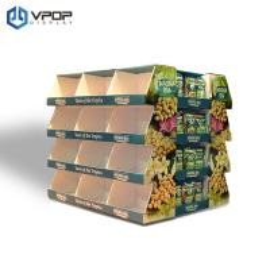 China 2 Sides Cardboard Floor Displays , Supermarket / Store Cardboard Retail Display on sale