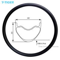 Quality 7-tiger carbon mountain bicycle wheel rim 29er cross conuntry bike brompton XC bike 30 x 40  holes Tubeless Compatible for sale
