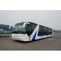 Quality White / Red / Yellow Airport Passenger Bus , 4 Stroke Diesel Engine Bus for sale