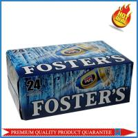 Quality high quality corrugated paper color box for 24 pieces 330mm beer bottle for sale