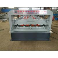 Buy cheap 4kw 380V PPGI Steel Tile Type Colorful Stone Coated Metal Roof Tile Roll Forming Machine from wholesalers