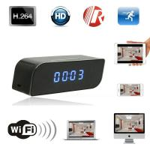 Buy T8S 720P Alarm Clock WIFI P2P IP Spy Hidden Camera Home Security CCTV Surveillan at wholesale prices