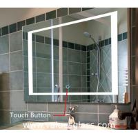 Quality LED Illuminated Bedroom Mirrors , Custom Size Bathroom Mirror With Lights for sale