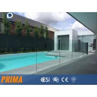 Quality Top grade clear frameless laminated glass balustrades for pool for sale