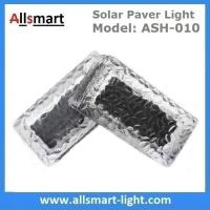 Quality 4x8 inch Rectangle Solar Paver Lights IP68 CE Solar Brick Lights Solar Underground Path Lights Solar In-ground Lights for sale