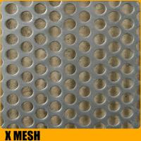 Buy cheap Regular  2B finish stainless steel perforated sheets square hole with 1524mm width from wholesalers