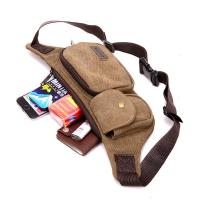 Quality 0.17 Kg Climbing Tactical Men Running Waist Pack With Casual Retro Canvas for sale