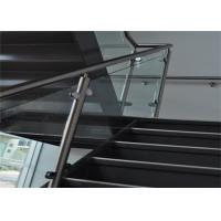 China Indoor 304 Stainless Steel Glass Railing With Satin Or Mirror Post Finishes on sale