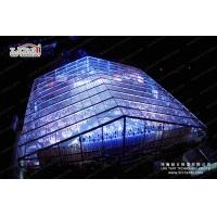 China 1500 People Clear Special Event Tent With Solid Glass Wall For Music Concert on sale