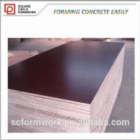 Quality Reusable 100 times wooden board plastic black film faced plywood for sale