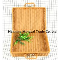 Hot selling Hand weaving Rattan eco-friendly vintage style picnic basket storage basket for sale