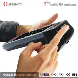 Bluetooth GPS WIFI Android Fingerprint Scanner , Micro Sd Terminal Printer