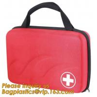 China Red pu leather waterproof mini eva first aid kit case,first aid box plastic case carrying case,Medical Multi-functional on sale