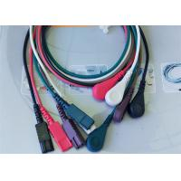 Buy LL Style ECG Monitor Cable , 5 Leads Snap AHA Ecg Cables And Leadwires at wholesale prices