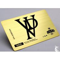 Quality Gold Plated Printable Metal Business Cards With Brush Effect Different Background for sale