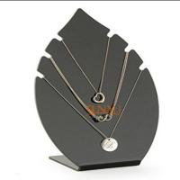 Buy Black 5mm Acrylic Jewelry Display Stands Leaf Shaped For Necklaces at wholesale prices