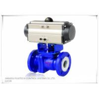 Quality Floating 2 Inch Motorized Ball Valve , Two Piece Type Double Acting Cylinder Control Valve for sale
