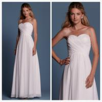 Quality Sheath Chiffon Beach wedding dress Bridal gown#6469 for sale