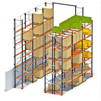 China High Cube Pallet Storage Racks , Multi Level Pallet Rack Shelving on sale