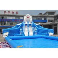 Outdoor Bear Giant Inflatable Water Park With EN14960 0.55mm PVC Tarpaulin Material for sale