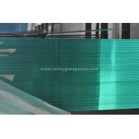 Green Interior Decorative Tempered Safety Glass , Large Tempered Glass Wall Panels