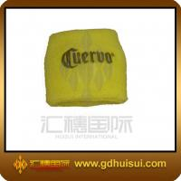 Quality sports yellow color promotional sweatband for sale