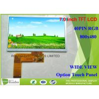 China 400cd / M² Brightness Touch Screen Lcd Display , Tft Touch Screen 7.0 800 x 480 on sale