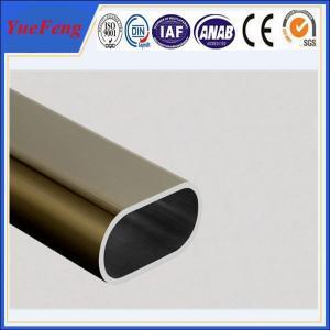 Quality Hot! oem 6000 series aluminium extrusion profile tube, 6063 t5 aluminium wardrobe tube for sale