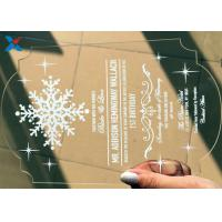 Quality Recyclable Acrylic Gifts Luxury Laser Cut Clear Color DIY Acrylic Wedding Invitations for sale
