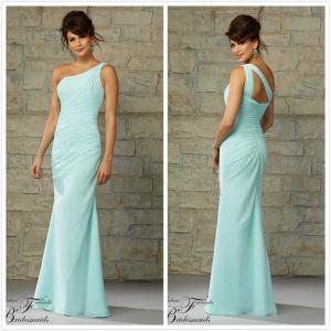 Quality Blue one shoulder Mother of the bride dress evening dress #20452 for sale
